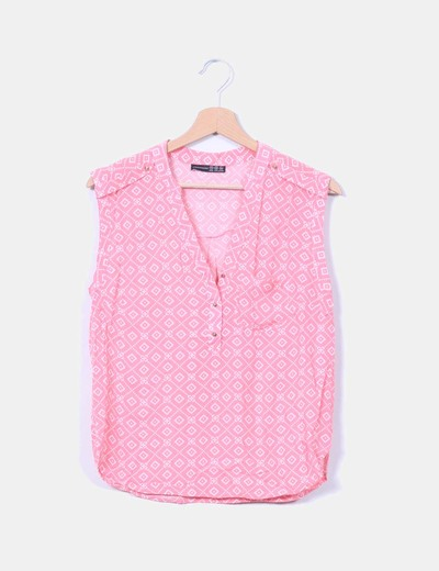 Blusa rosa estampada Atmosphere
