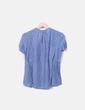 Blusa azul estampado cuello pico Massimo Dutti