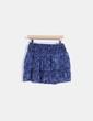 Falda midi azul estampada Sfera