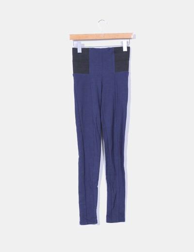 Leggins azul marino con cinturilla negra Amisu