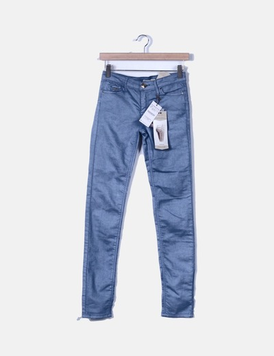 Pantalón azul de loneta