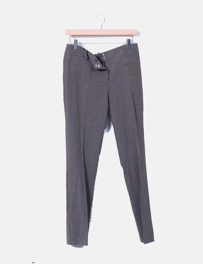Últimas tendencias última colección genuino mejor calificado Pantalón recto gris