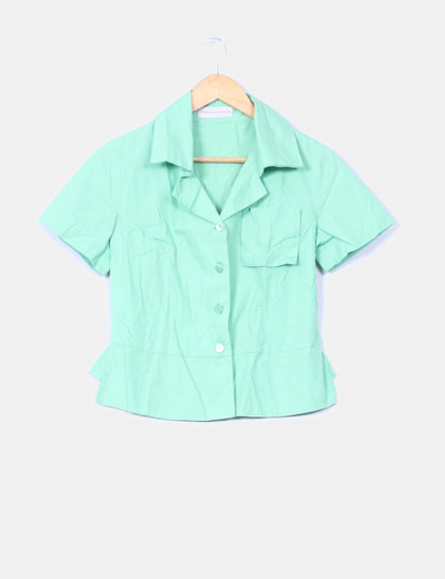 6ec1fcfff4c Purificación García Camisa verde manga corta (descuento 99%) - Micolet
