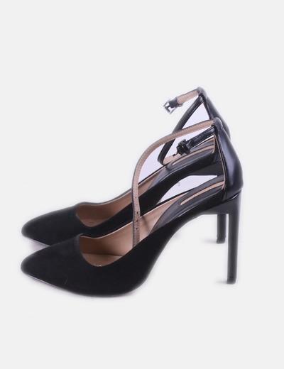 Tacón Tobillo Zapato Al Atado Negro R4cjS3q5AL