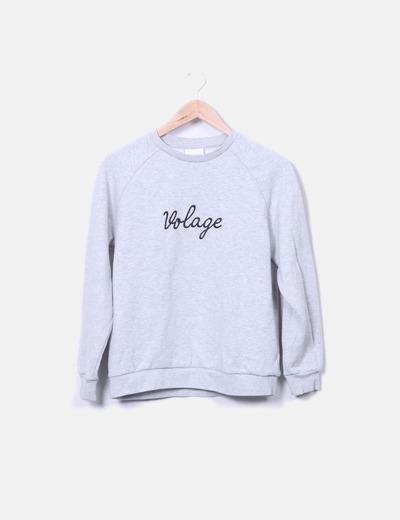 Sweat-shirt gris volage ASAP PARIS
