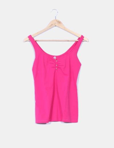 23300fe3a09ad Bershka Camiseta tirante básica rosa (descuento 90%) - Micolet