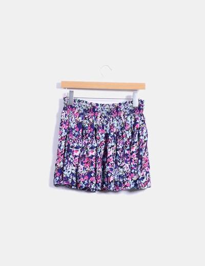 Minifalda floral multicolor