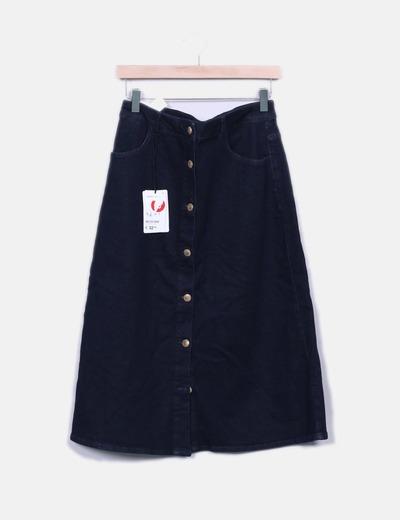 Maxi falda denim abotonada Suiteblanco