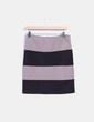 Mini falda bicolor ajustada Made in Italy