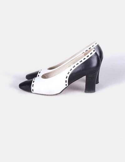 1f9a5aee5d8 Laura Camino Zapato d tacón blanco y negro (descuento 81%) - Micolet