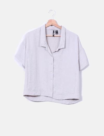 Blusa oversize efecto arrugado  Mango