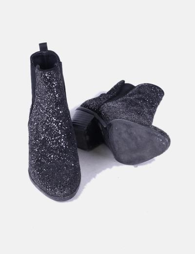 Zara Bottines noires paillettes (réduction 70%) - Micolet 058ac5e9fd49