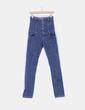 Jeans denim tiro alto entallado Pull&Bear