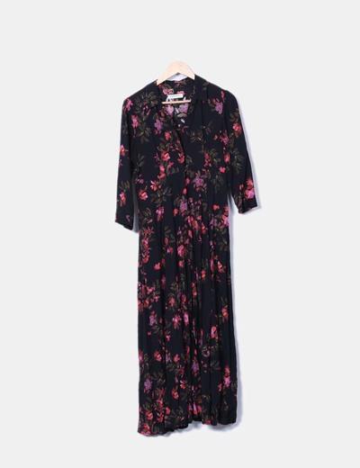 Vestido largo camisero estampado floral Zara