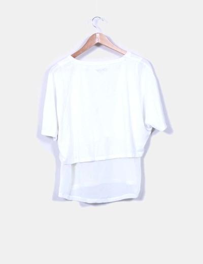 Camiseta blanca doble capa