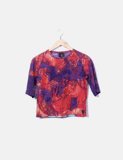T-shirt multi-couleurs imprimé Just Cavalli