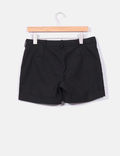 8b98c7086f9a Short negro de vestir con dobladillo