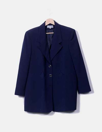 Conjunto de falta y blazer azul marina Telltor´s