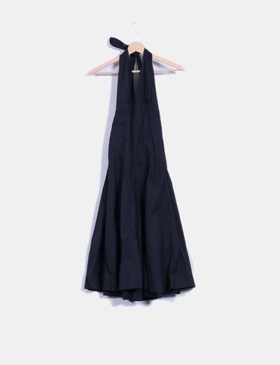 zara robe noir maxi dos nu r duction 94 micolet. Black Bedroom Furniture Sets. Home Design Ideas