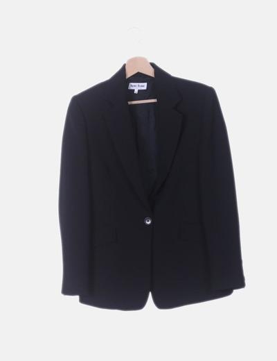 Conjunto de blazer y pantalón negro