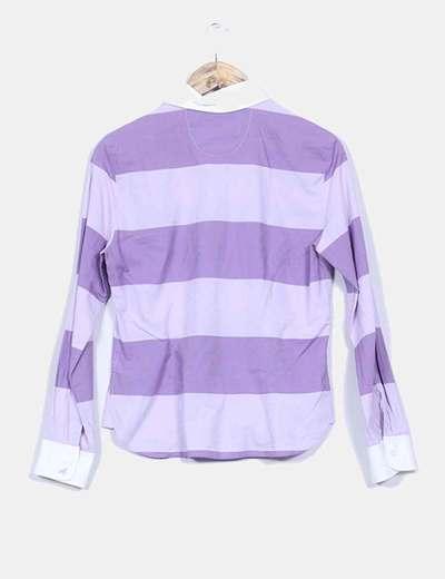 Camisa bicolor estampado rayas
