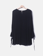 Blusa larga fluida negro Zara
