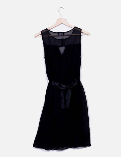 Vestido negro guipur