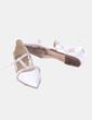 Bailarinas blancas con tachas Zara