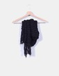 Bufanda de lana negra NoName