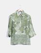 Camisa verde floral de lino Max Mara