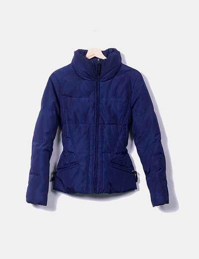 Chaqueta acolchada azul marina Zara