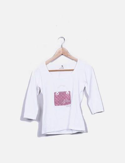 Camiseta blanca print bolso Lolitas