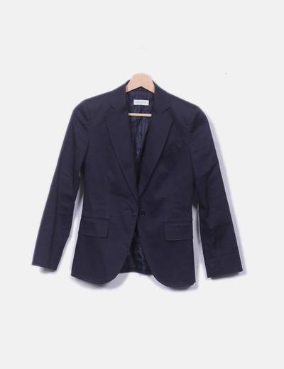 Blazer azul marina con bolsillos