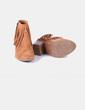 Bottes marrons en daim à franges New Collection