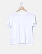 Camiseta blanca print Zara