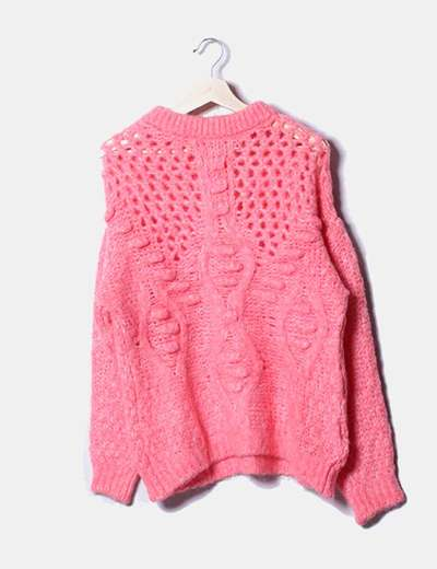 Jersey de punto grueso rosa