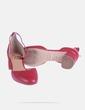 Zapato de tacón con tobillero rojo Adolfo Dominguez