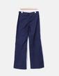 Pantalón recto azul marino rayas rojas Mango