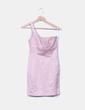 Vestido rosa asimétrico nacarado Zara