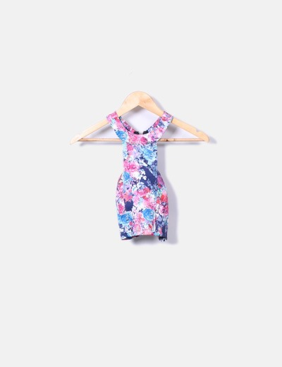 Top floral cropped NoName