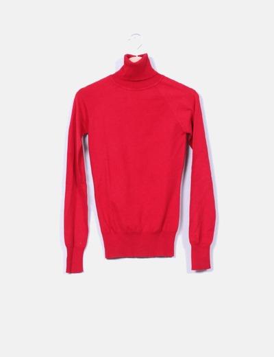 Jersey rojo cuello vuelto XDYE