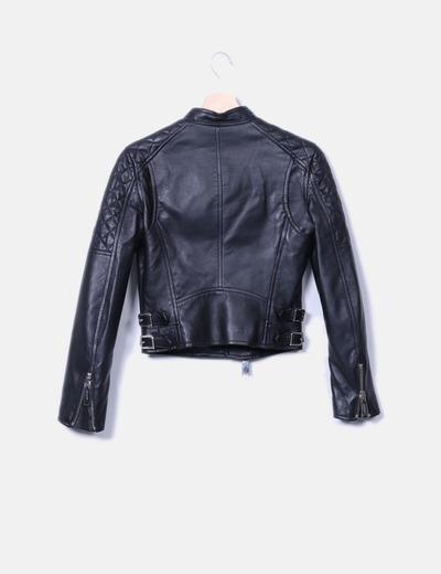Dsquared2 cazadora biker cuero negro descuento 55 micolet for Ariadne artiles medidas
