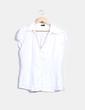 Camisa lino blanca  Cortefiel