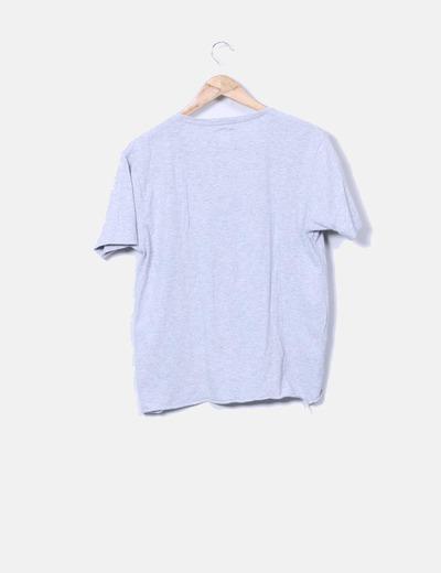 Camiseta gris con paillettes print batman