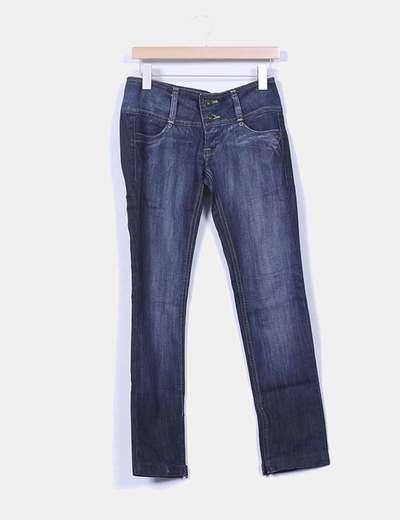 Jeans denim  con cremalleras Bershka