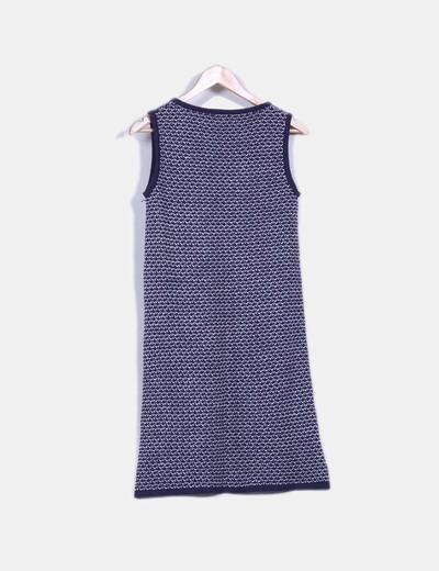 Vestido azul petroleo de punto