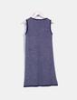 Vestido azul petroleo de punto Pilar Prieto
