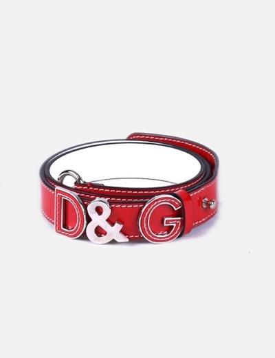Cinturón rojo Dolce&Gabbana