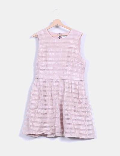 Vestido rosa palo irisado Vero Moda