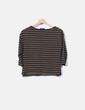 Suéter tricot verde rayas Zara